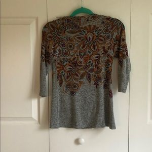 Anthropologie Postage Stamp Floral Sweater